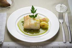 Receta: Bacalao confitado en salsa verde