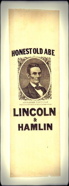 Abraham Lincoln 1860 Campaign Ribbon
