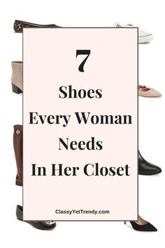 7 Shoes Every Woman Needs In Her Closet - black pumps heels, leopard pumps heels flats, riding boots, ankle boots booties, ballet flats, sandals, Converse sneakers.