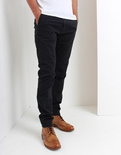 Scotch and Soda's Stuart chinos available here in navy have a slim fit with zip fly and four pocket design. Scotch Soda, Black Jeans, Slim, Navy, Fitness, Clothing, Summer, Pants, Men