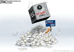 Killary Email Dump consisting of 22 top secret emails. Will her campaign be flattened over this? Political Cartoon by A.F. Branco ©2016. Read more at http://comicallyincorrect.com/2016/02/01/youve-got-nail-ed/#oXLPyjUAFClWkyQ7.99