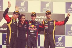 The happy podium after the Bahrain GP