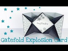 Gatefold Explosion Card [tutorial | deutsch] Side Step Card, Tri Fold Cards, Step Cards, Exploding Boxes, Card Tutorials, Stamping Up, Origami, Card Making, Xmas