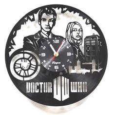DOCTOR WHO Vinyl Clock Movie Decor Dr Who Art Vinyl Record Art
