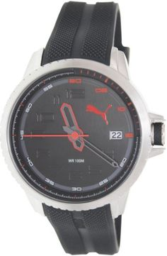 Men's Wrist Watches - Puma Mens Turbine PU103281004 Black Rubber Analog Quartz Watch with Black Dial -- Visit the image link more details. (This is an Amazon affiliate link)