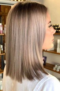 Hairstyle Balayage For Shoulder Length Hair ❤ Let us guide you in the world of medium hair styles. We have a collection of the trendiest hairstyles for ladies with shoulder length hair. Brown Blonde Hair, Light Brown Hair, Icy Blonde, Winter Blonde Hair, Beige Hair, Light Hair, Blonde Balayage, Black Hair, Winter Hairstyles