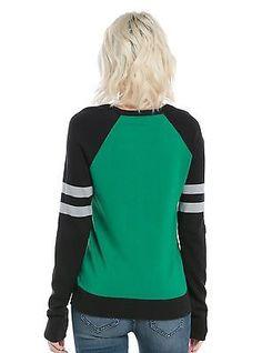Para Mujer Suéter De Harry Potter Slytherin Pullover Camisa Sudadera Jumper XS - 3X