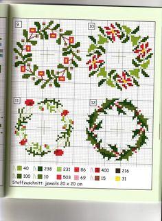 Cross Stitch Christmas Ornaments, Xmas Cross Stitch, Cross Stitch Heart, Beaded Cross Stitch, Cross Stitch Borders, Cross Stitch Flowers, Christmas Cross, Cross Stitch Designs, Cross Stitching