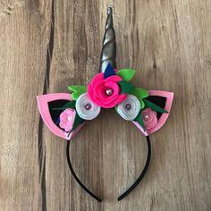 Unicorn Headband Pink silver