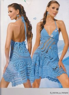 free Russian crochet clothing patterns in crochet diagrams....amazing dress!