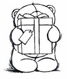 Colour In This Cute Picture Of Tatty Teddy Holding A Flower And