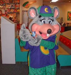 Chuck E. Cheese Gets a Makeover- New Mascot, Still Crappy Pizza Showbiz Pizza, Flint Michigan, Evil Demons, Chuck E Cheese, The Wiggles, Kids Growing Up, Love Pizza, Playing Guitar, Special Guest