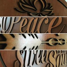 Been working on some brand new inspirational quote wall pieces. Curious to see what they say? Stay tuned. #inhiskindness #peace ##soul #arrow #wood #woodworking #lasercut #laserengraving #inspirationalquotes #kindness #love #joy #eternity #creativity #art #homedecor #newproducts #comingsoon #unique #flourish #lifeistooshort #enjoylife #lifequotes #abundantlife