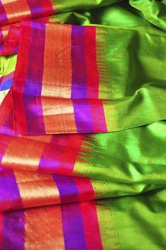 Gadwal sari - handloom silk, available at Omnah. www.facebook.com/omnah.
