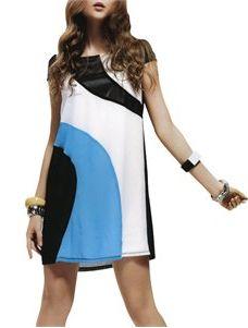 $9.99 Jessie G. Women's Multi-color Diagonal Blocked Dress - Deal Ends on 8/16/2012