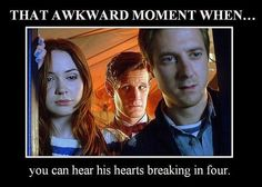 he is so desperately lonely.  These episodes are kind of making me look forward to the doctor getting a new companion who will travel with him all the time, not just on and off like the Ponds have been lately.  I will miss the Ponds but I'm glad that the Doctor will get someone to help drive away the loneliness.