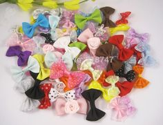 Aliexpress.com : Buy 48pcs Randomly Mixed Colors Girls Boutique Mini Hair Bow Headwear DIY Garment Craft Approx 2.5 4cm 14020007(2.5 4HS48) from Reliable accessories for htc phone suppliers on Lucia Craft store