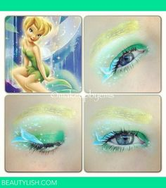 #Tinkerbell #EyeshadowArt