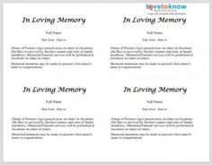 Obituary Templates And Samples  Template Lab  Education