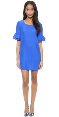 Amanda Uprichard Ruffle Sleeve Dress | SHOPBOP