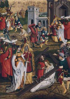 Kreuzprobe durch die Hl. Helena 1500-1510; Augsburg; Deutschland; Schwaben; Staatsgalerie im Schaezler-Palais http://tarvos.imareal.oeaw.ac.at/server/images/7017004.JPG