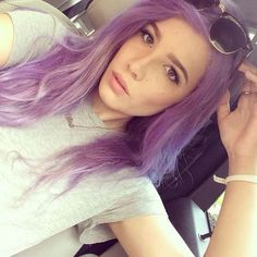 Halsey Hairstyles: Blue, Pink & Purple Hair Photos ❤ liked on Polyvore featuring hair, halsey, people, hair styles and photos