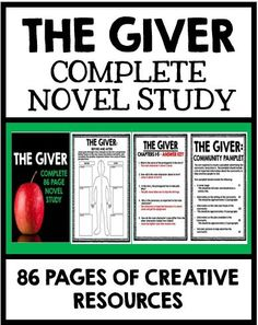 The Giver: Complete 86 page Novel Study!