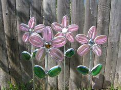 Stained Glass Garden Art.
