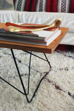 Modern Coffee Table - DIY version via almost makes perfect