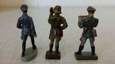 ELASTOLIN HAUSSER , LINEOL 7cm : WEHRMACHT , LUFTWAFFE , 3 VERSCHIEDENE SOLDATEN | eBay