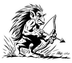 pukwudgie: small, troll-like being from Wampanoag folklore.