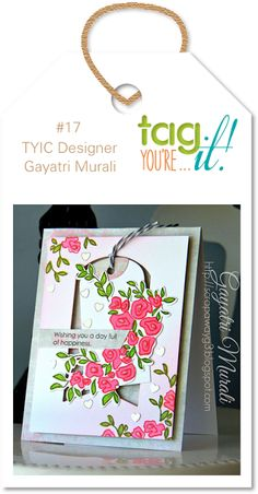 Handmade by G3: Tag You're it challenge #17