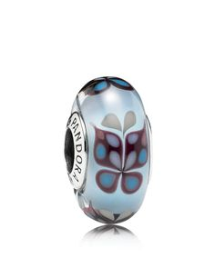 Pandora Charm - Sterling Silver & Murano Glass Butterfly Kisses, Moments Collection