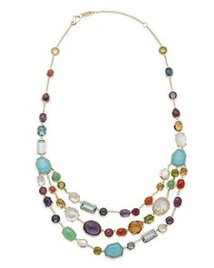 Rock Candy® Multi-Row Rainbow Bib Necklace by Ippolita at Neiman Marcus Jewelry Accessories, Jewelry Design, Women Jewelry, Bib Necklaces, Beaded Necklace, Statement Necklaces, Beaded Jewelry, Station Necklace, Rock Candy