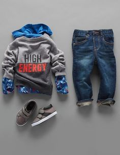 Boys' fashion | Kids' clothes | Graphic top | Jeans | Sneakers | Back-to-school | The Children's Place