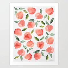 peaches Art Print Boho Chic Bedroom, Diy Home Decor Bedroom, Trendy Bedroom, Bedroom Ideas, Bedroom Modern, Bedroom Wall, Bedroom Neutral, Rustic Bedrooms, Modern Bedding