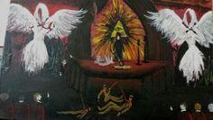 acrylic painting  ritual