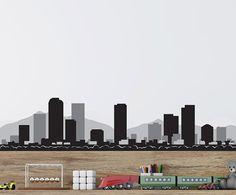 Denver Colorado Skyline Decal - Vinyl Decal - Car Sticker - Laptop Sticker - Wall Decals - Wall Decor - Reusable Decal