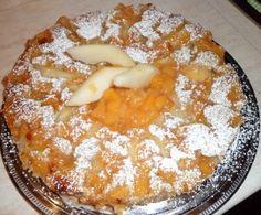 Torta di grano saraceno con pere e marmellata