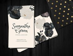 Roses Business card by Webvilla on Creative Market