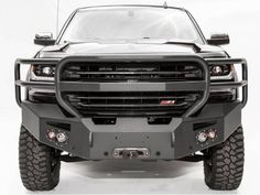 Fab Fours Chevy Silverado 1500 Premium Front Bumper Winch Ready with Full Grill Guard - Everything About Off-Road Vehicles Lifted Chevy Trucks, Classic Chevy Trucks, Gmc Trucks, Diesel Trucks, Chevy Classic, Lifted Ford, Classic Cars, 2008 Chevy Silverado, Silverado 1500