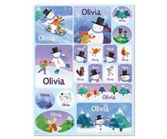 Girls and boys love stickers, and they're even more fun when they include the child's own name! The x personalized sticker sheet features beautiful artwork and your child's name on 18 stickers. Made in the USA. Personalized Books For Kids, Personalized Stockings, Personalized Stickers, Personalized Christmas Gifts, Christmas Crafts For Toddlers, Toddler Christmas, Toddler Crafts, Christmas Tree, Teacher Christmas Gifts