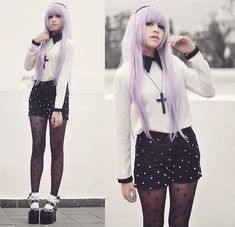 Here is Pastel Goth Outfit Ideas Collection for you. Pastel Goth Outfit Ideas fashion outfits trend council pastel goth past. Vêtements Goth Pastel, Pastel Goth Outfits, Pastel Goth Fashion, Hipster Outfits, Kawaii Fashion, Grunge Outfits, Grunge Fashion, Cute Fashion, Gothic Fashion