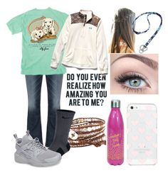 """""""School Tomorrow ."""" by duhitsallison ❤ liked on Polyvore featuring Silver Jeans Co., Kate Spade, Chan Luu, NIKE, Love Quotes Scarves, Under Armour and Vera Bradley"""