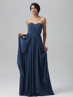 Pin to Win a Wedding Gown or 5 Bridesmaid Dresses! Simply pin your favorite dresses on www.forherandforhim.com to join the contest! | Multi-wear Chiffon Dress $129.99