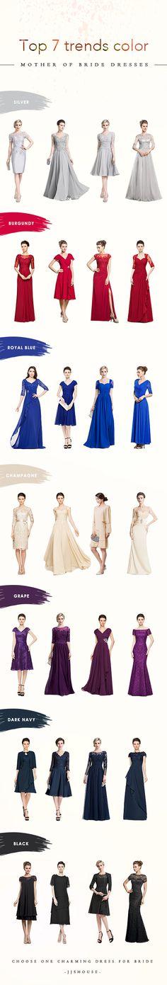 Top 7 trends color! Mother of Bride Dresses  #MotheroftheBride Charming dress for you!