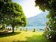 Giardino a lago con splendida vista e accesso diretto al lago