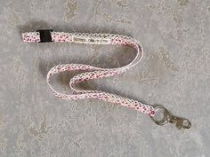 lanyard handmade floral cotton lace design with a safety snap