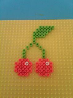 Double cherries hama perler beads