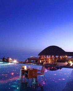 Romantic night in Maldives
